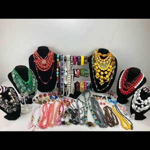 Lot 84 Of Lucite Necklaces, Earrings, Bracelets